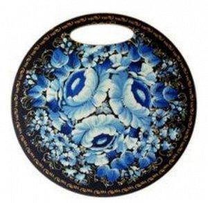 Доска сувенирная круглая Гжель-2, 25 см