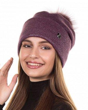 Шапка Шапка. Отворот: шапка с отворотом. Состав: 41% акрилик 28% ПЭ 18% шерсть 13% мохер. Подклад: полный флис. Помпон: меховой натуральный. Толщина: шапка толстая