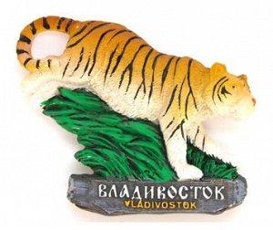 """Магнит полистоун """"Владивосток"""" (Тигр) цвет зеленый, желтый"""