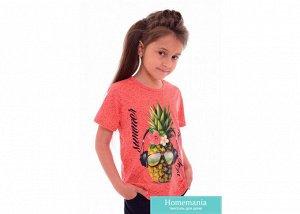 Футболка детская Alycia Цвет Коралловый (5-6 лет)