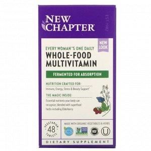 New Chapter, Комплекс Мультивитаминов для женщин, 48 таблеток