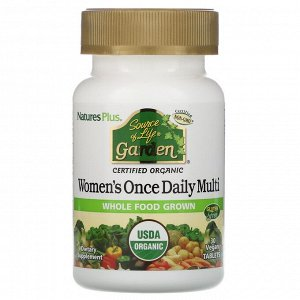 Nature's Plus, Source of Life Garden, мультивитамины для женщин для приема один раз в день, 30 веганских таблеток