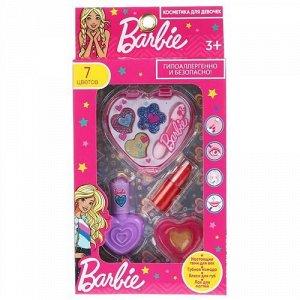 """Косметика для девочек """"Милая леди"""" Барби (тени,помада.блеск для губ,лак),кор."""