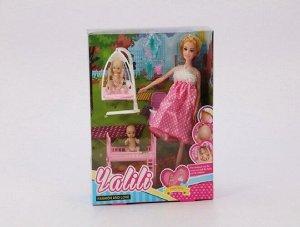 Набор Беременная кукла с малышом, аксессуары, кор.
