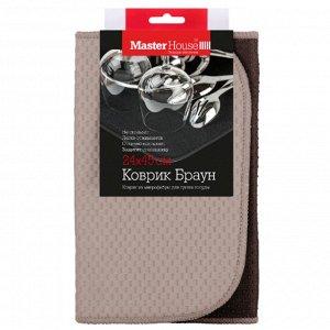 """Коврик для сушки посуды """"Браун"""" 25х45см 60447"""
