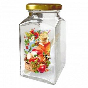 """Банка для сыпучих продуктов """"Корзина яблок"""" 312мл 626-713"""