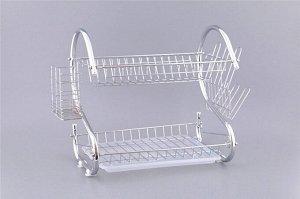 Сушилка для посуды с поддоном 40х24,5х38см 917-007