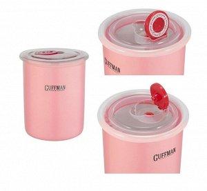 """""""Ceramics"""" Банка для хранения 700мл цв.розовый C-06-007-P"""