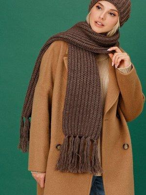 """Шарф Объемный мягкий шарф """"Билли"""" - классическая английская резинка с кистями на концах. Выполнен из пушистой меланжевой пряжи, кисти вплетаются вручную. К нему вы можете подобрать любую шапку и вареж"""