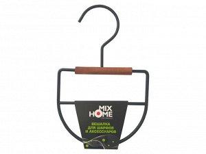 """Вешалка """"Loft"""" металл.дерево для шарфов и акс. 13х1,2х20,5см, цв.черный MHW50116 ВЭД"""