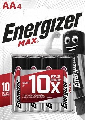 ENERGIZER MAX Набор батареек E91 BP 4 RU, 4шт., пальчик.  E300157103