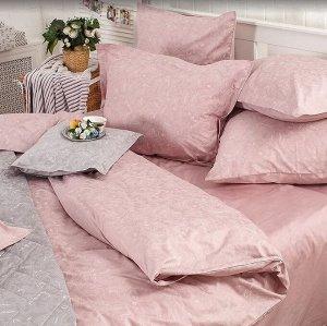 """""""Формула комфорта"""" Комплект постельного белья """"Paisley"""" 2сп, цв.розовый, 50х70, 70х70см, сатин 2249"""