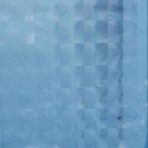Штора для ванной комнаты Доляна «Графика» 3D, 180?180 см, EVA, цвет синий