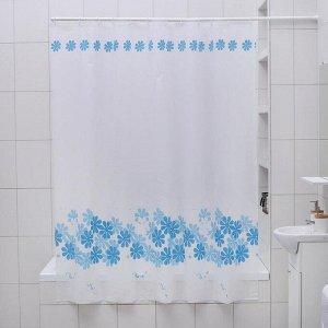 Штора для ванной комнаты Доляна «Ромашки», 180?180 см, PEVA