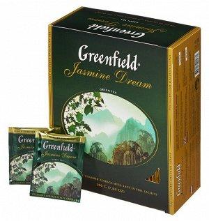 Чай Гринфилд Jasmine Dream, 100пак