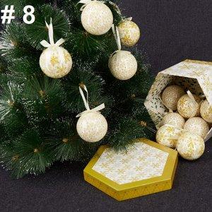 Набор елочных шаров в подарочной коробке
