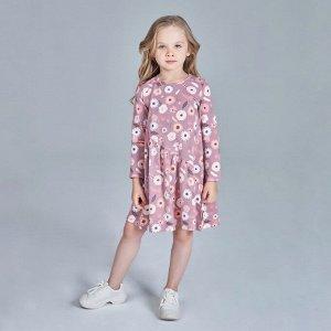 Платье для девочки, набивка цветы