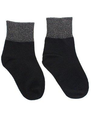 """Детские носки 3-5 лет 15-18 см """"С люрексом"""" Чёрные"""