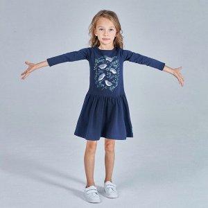 Платье для девочки, т.синий