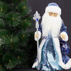 """Дед Мороз Декоративная кукла """"Дед Мороз"""" Двигается и поет. Высота 45 см. Питание от батареек (в комплект поставки не входят). Упаковка - картонная коробка."""