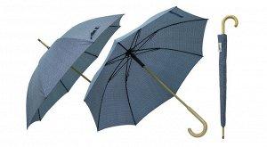 """""""Rain"""" Зонт женский, трость, серый с рисунком TU103 103110 ВЭД"""