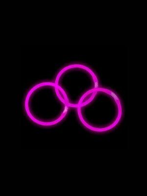 Неоновый браслет см 3шт. цв.розовый 81531