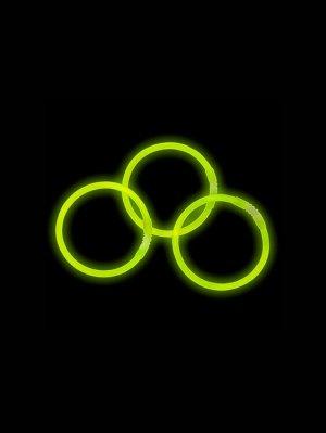 Неоновый браслет см 3шт. цв.зеленый 81530/80525