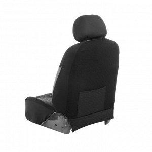Авточехлы TORSO Premium универсальные, 9 предметов, чёрно-серый AV-19