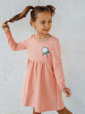 Платье Одуванчик персик