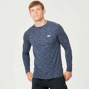 Мужской лонгслив MYPROTEIN Performance Long Sleeve (цвет Navy Marl)