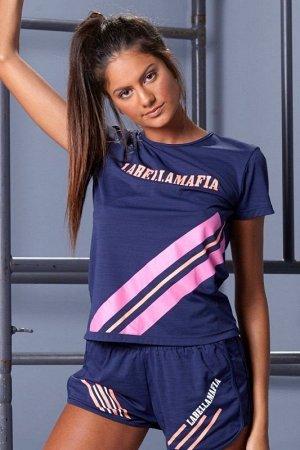 Женская футболка Labellamafia T-SHIRT SLIM FIT GRID (FBL17133)