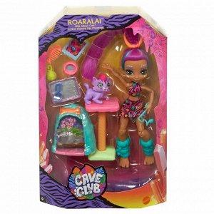 Игровой набор Mattel Cave Club с куклой Роралай и саблезубым котенком36
