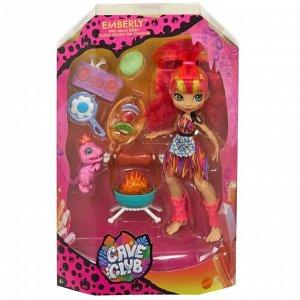 Игровой набор Mattel Cave Club с куклой Эмберли и барбекю76