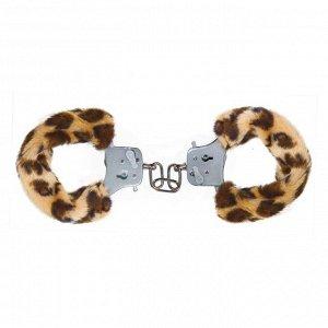 Наручники с леопардовым мехом Furry Fun Cuffs Leopard