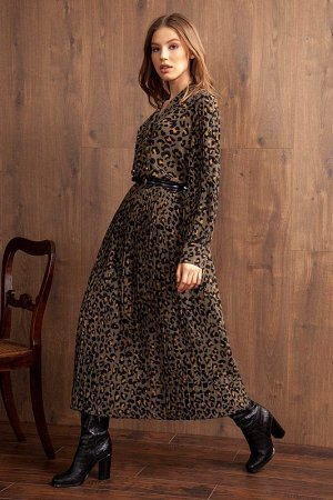 Юбка миди Рост: 170 см. Состав ткани: полиэстер 97%, спандекс 3% Стильная юбка плиссе из легкой ткани с анималистичным принтом на притачном поясе. Изделие на подкладке.