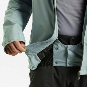 Куртка лыжная для трассового катания мужская зеленая 580 wedze