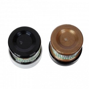 Патина финишная, набор: краска акриловая, 2 цвета х 50 мл, №2, бронза, чёрная