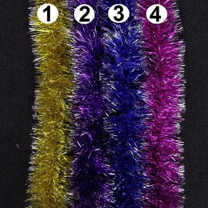 Мишура Мишура придаст праздничной атмосфере,те финальные штрихи, которые делают композицию законченной, придавая ей нарядный и эффектный вид.  Длина 170 см. Диаметр 9 см.