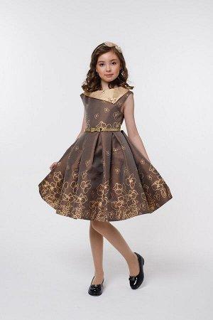 Платье Количество в упаковке: 1; Артикул: СС-1401; Цвет: Коричневый; Ткань: Полиэстер; Состав: 100% полиэстер; Цвет: Коричневый Скачать таблицу размеров