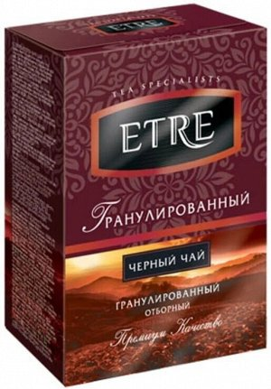 Чай рассыпной черный гранулированный 100г (картон)