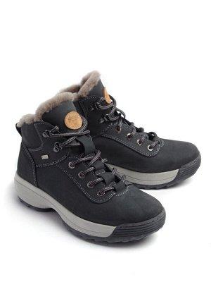 Ботинки зимние женские, серый нубук