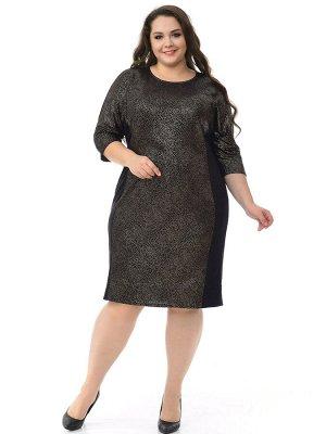 Платье из ангоры с цельнокроеным рукавом, черное