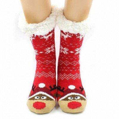 Теплые носочки Hobby Line! Новогодние! Ангора, махра  — Носки женские с мехом внутри — Носки