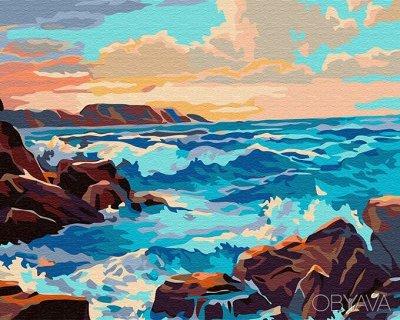 Алмазные мозаики любых форматов и размеров от 121 руб. — Море, корабли - Картины по номерам Paintboy (40*50 см) — Рисование