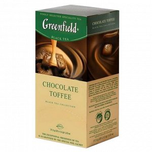 Чай Гринфилд Chocolate Toffee, 25пак