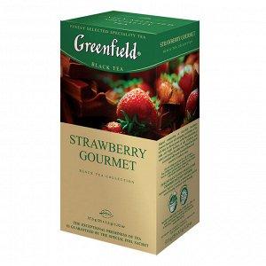 Чай Гринфилд Strawberry Gourmet, 25пак