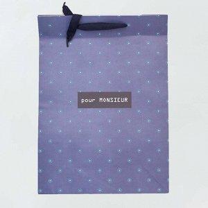 Большой подарочный пакет - синий