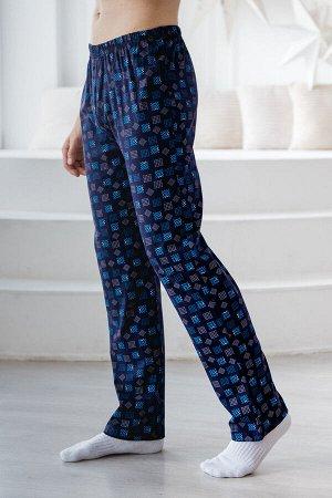 Брюки мужские пижамные из кулирки темно-синий