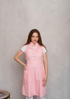 Модель фартук-платье цвет розовый размер 42
