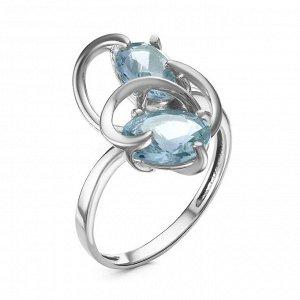 Кольцо из серебра с нат.топазом родированное 1-1095р-402